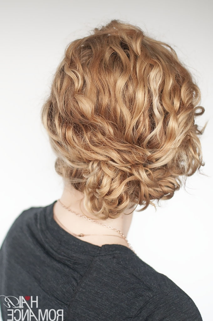 Super Easy Updo Hairstyle Tutorial For Curly Hair – Hair Romance Within Best And Newest Updo Hairstyles For Medium Curly Hair (View 6 of 15)