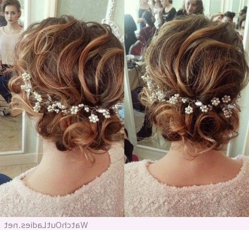 Sweet Loose Curly Updo For Shoulder Length Hair | Watchoutladies Pertaining To Most Recent Soft Updo Hairstyles For Medium Length Hair (View 13 of 15)