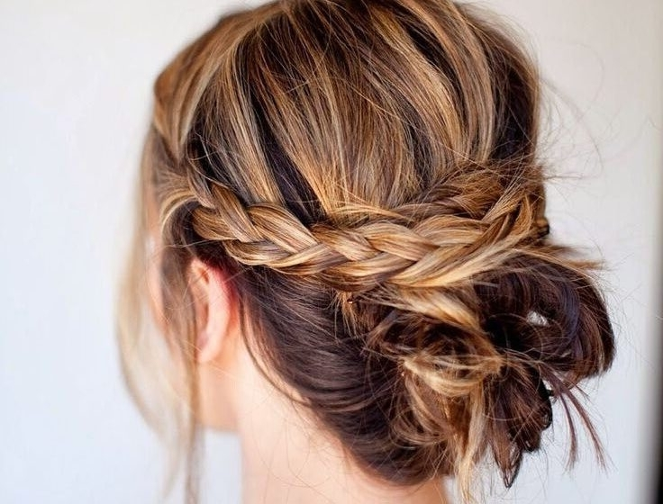 Ten Updo Hairstyle Tutorials For Medium Length Hair – Estheticnet Within Most Recent Messy Updos For Medium Length Hair (View 9 of 15)