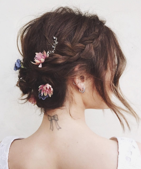 The 13 Best Updos For Short Hair | Glamour For Most Current New Updo Hairstyles (View 12 of 15)