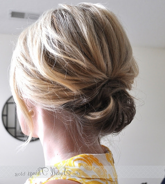 The 25 Most Beautiful Easy Updos | Short Hair, Shoulder Length Hair In 2018 Everyday Updos For Short Hair (View 14 of 15)