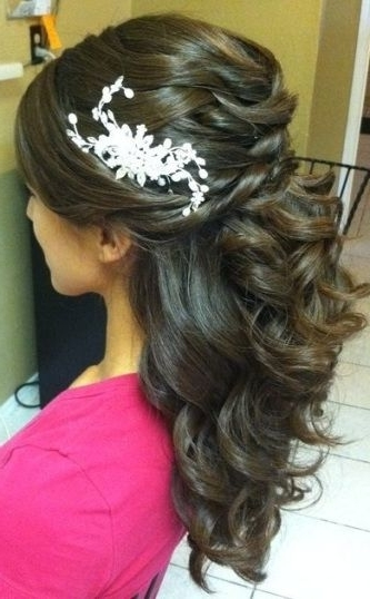 The Best Indian Wedding Hairstyles: Half Updo | Indian Wedding Throughout Most Up To Date Indian Updo Hairstyles (View 13 of 15)