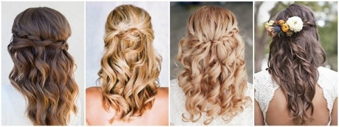 The Best Wedding Hairstyles That Will Leave A Lasting Impression For Most Current Half Updo Hairstyles For Medium Length Hair (View 10 of 15)