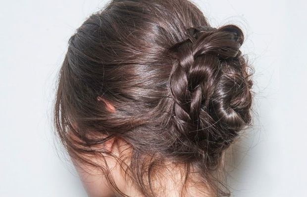 The Braid Bun In 3 Easy Steps | Easy Braided Hairstyles, Updo And With Most Recent Easy Braid Updo Hairstyles (View 15 of 15)
