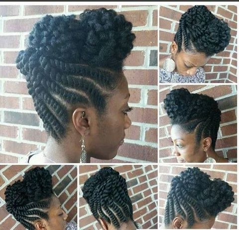 The Flat Twist Updo Style Official | Flat Twist, Updo And Natural Within 2018 Two Strand Twist Updo Hairstyles For Natural Hair (View 7 of 15)