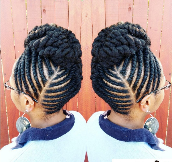 The Flat Twist Updo Style Official | Flat Twist Updo, Flat Twist And Throughout 2018 Twist Updo Hairstyles (View 5 of 15)