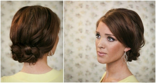 The Freckled Fox: Summers End Hair Week: The Easy Knotted Updo Regarding 2018 Knot Updo Hairstyles (View 5 of 15)