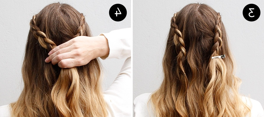 The Lace Braided Half Updo For Any Summer Party | More Inside Best And Newest Braided Half Updo Hairstyles (View 8 of 15)