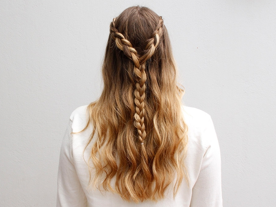 The Lace Braided Half Updo For Any Summer Party | More Inside Most Recently Braided Half Updo Hairstyles (View 4 of 15)