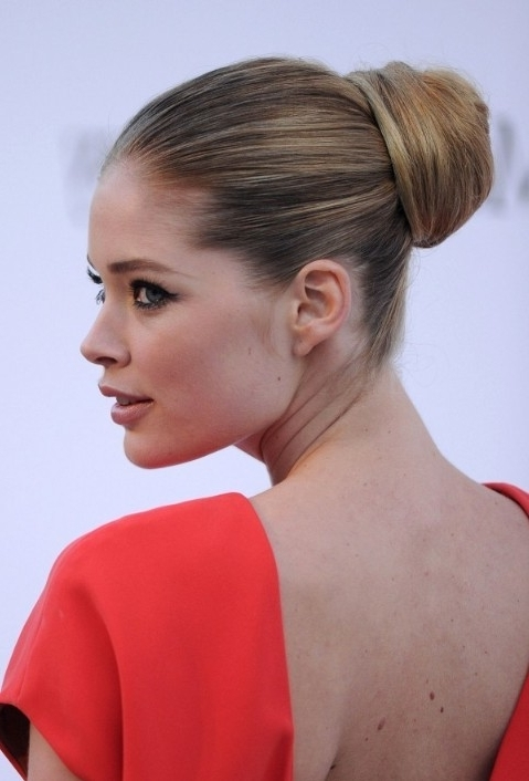 The Most Popular Sleek Ballerina Bun Updo Hairstyles This Year Pertaining To Most Recent Updo Bun Hairstyles (View 9 of 15)