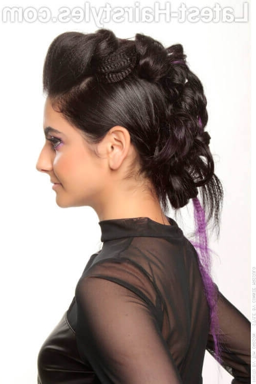 The Sexiest Messy Updos You'll See All Day Pertaining To Latest Funky Updo Hairstyles For Long Hair (View 11 of 15)