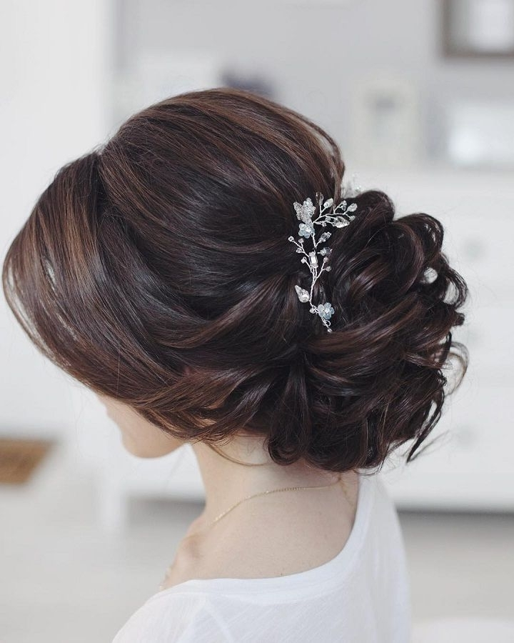 This Beautiful Bridal Updo Hairstyle Perfect For Any Wedding Venue In Most Current Bridal Updo Hairstyles For Long Hair (View 11 of 15)