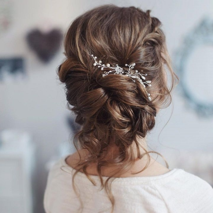 This Beautiful Loose Curl Bridal Updo Hairstyle Perfect For Any For Most Current Loose Updos For Long Hair (View 8 of 15)