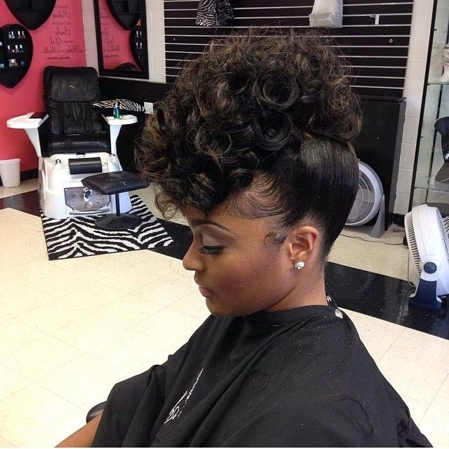 Displaying Gallery Of Black Ladies Updo Hairstyles View 4 Of 15 Photos