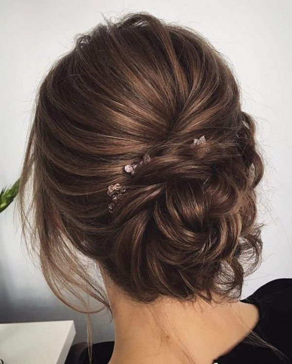 Top 10 Messy Updo Hairstyles   Bridal Updo, Updo And Brunettes Throughout 2018 Bridal Updo Hairstyles (View 9 of 15)