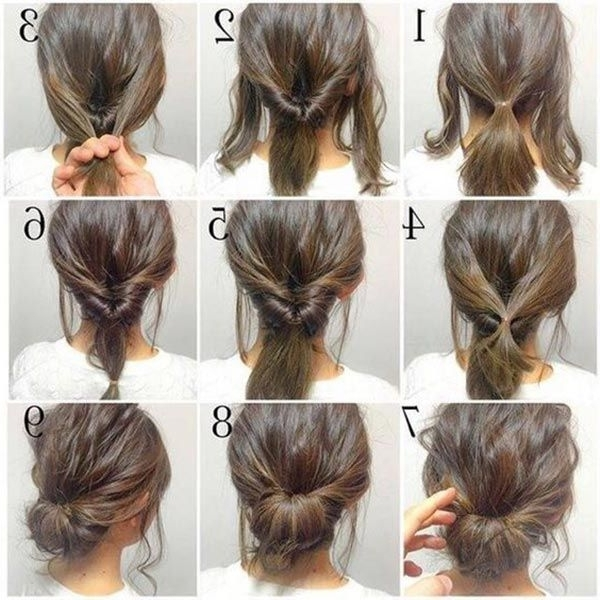 Top 10 Messy Updo Tutorials For Different Hair Lengths | Bun Intended For Most Current Easy Bun Updo Hairstyles For Medium Hair (View 4 of 15)