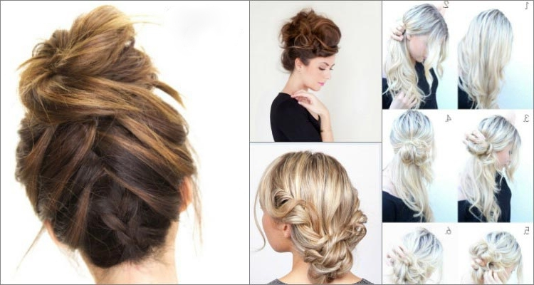 Top 10 Messy Updo Tutorials For Different Hair Lengths Intended For Recent Updo Hairstyles For Long Hair Tutorial (View 2 of 15)