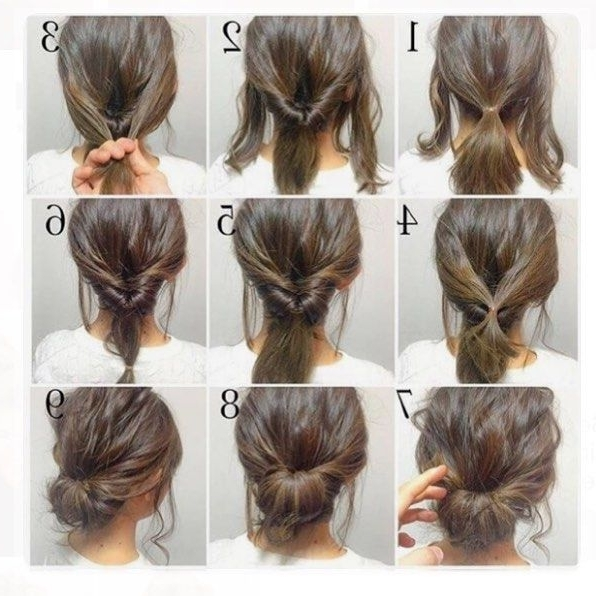 Top 10 Messy Updo Tutorials For Different Hair Lengths | Pinterest Inside Current Easy Updos For Medium Hair (View 15 of 15)