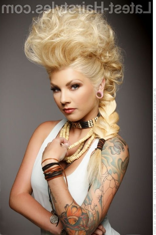 Top 15 Long Blonde Hairstyles You Must See! | Mohawk Updo, Mohawks For Most Recently 80S Hair Updo Hairstyles (View 15 of 15)