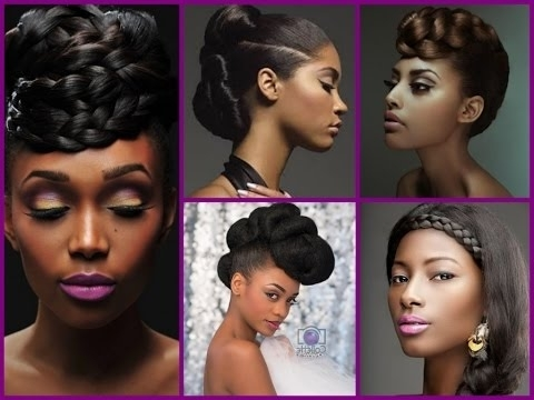 Top 20 Trendy Updo Hairstyles For Black Women – Youtube Within 2018 Hair Updos For Black Women (View 13 of 15)