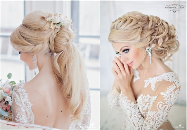Top 25 Stylish Bridal Wedding Hairstyles For Long Hair | Deer Pearl Inside Newest Updos For Brides With Long Hair (View 12 of 15)
