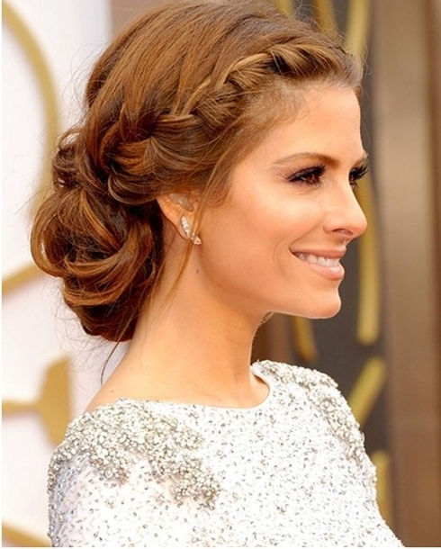 Trendy Low Bun Updo Hairstyles 2016 Inside Most Popular Bun Updo Hairstyles (View 12 of 15)