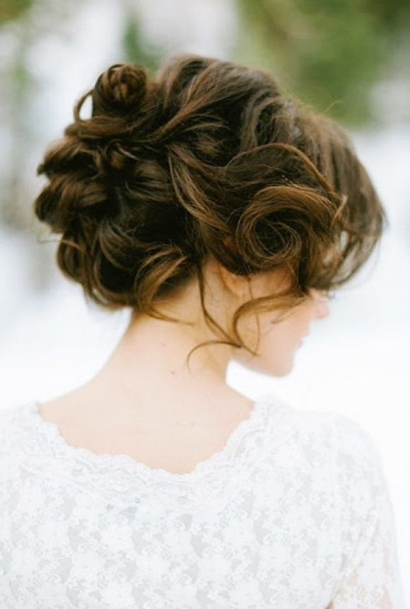 Trendy Wedding Hairstyles 2017 / 2018Bride's Messy Updo Wedding Regarding Recent Messy Updo Hairstyles For Wedding (View 8 of 15)
