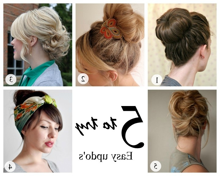 Try Easy Updo Hairstyles | Medium Hair Styles Ideas – 29369 With Most Up To Date Long Hair Updo Hairstyles For Work (View 5 of 15)