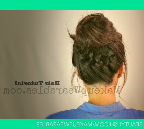 Tutorial | Cute Back To School Hairstyles & Updos | Braided Messy With Most Current Updo Hairstyles For School (View 13 of 15)