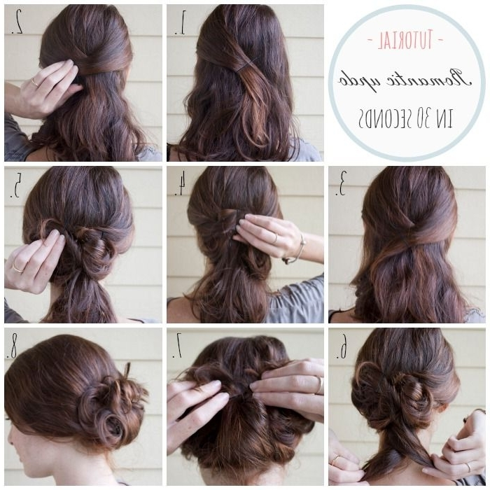 Tutorial: Easy And Express Updo For Medium Length Hair « Fashion Throughout 2018 Easy Diy Updos For Medium Length Hair (View 14 of 15)