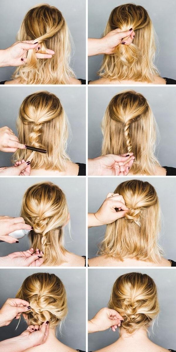 Tutorial, Enkel Uppsättning Kort Hår (Fråga Frisören & Makeup In Recent Quick Easy Updo Hairstyles For Short Hair (View 15 of 15)