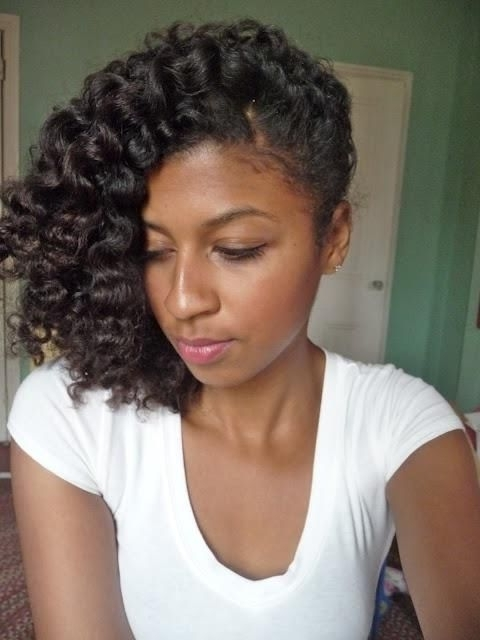 Twist Hairstyles For Natural Hair | Twist Braided Styles – Part 10 Regarding Most Up To Date Curly Updos For Black Hair (View 6 of 15)