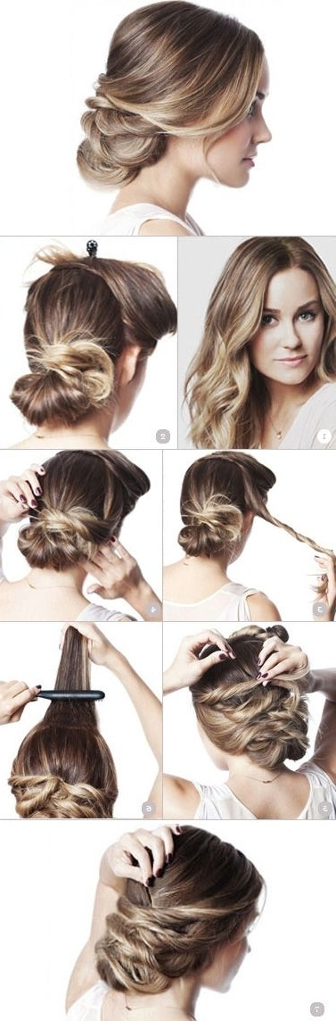 Twist It Up! Hair Updo | Lauren Conrad, Updo And Hair Coloring Intended For Most Recently Easy Updo Hairstyles For Long Straight Hair (View 13 of 15)