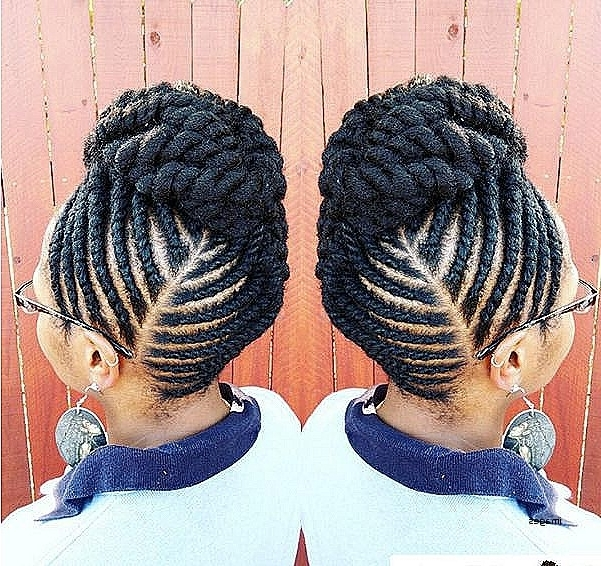 Twist Updo Hairstyles For Natural Hair Awesome The Flat Twist Updo With Regard To Recent Hair Twist Updo Hairstyles (View 13 of 15)