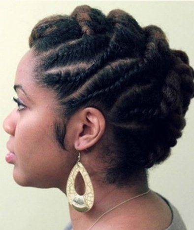 Photo Gallery of Flat Twist Updo Hairstyles On Natural Hair (Showing ...
