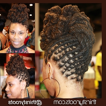 Twisted Bun Dreadlocks Hairstyle Within 2018 Updo Hairstyles For Locks (View 12 of 15)