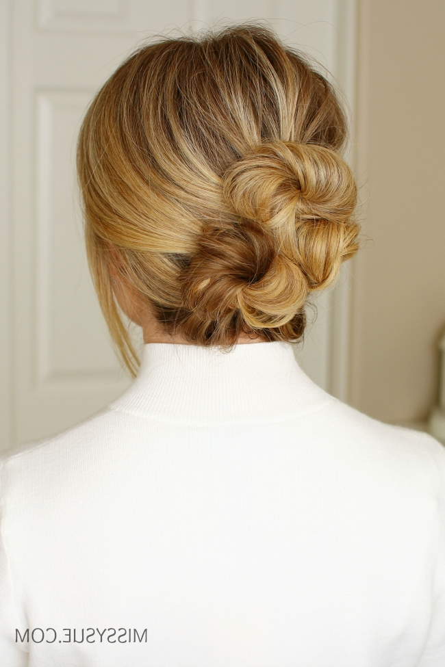 Twisted Buns Updo | Missy Sue Inside Newest Twisted Bun Updo Hairstyles (View 7 of 15)