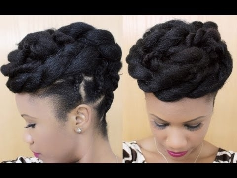 Twisted Goddess | Updo On Natural Hair | @kyssmyhair – Youtube Within Most Recent Goddess Updo Hairstyles (View 15 of 15)
