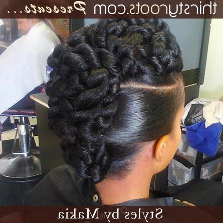 Twisted Updo Hair Style – Thirstyroots: Black Hairstyles Within Most Up To Date Twisted Updo Hairstyles (View 13 of 15)