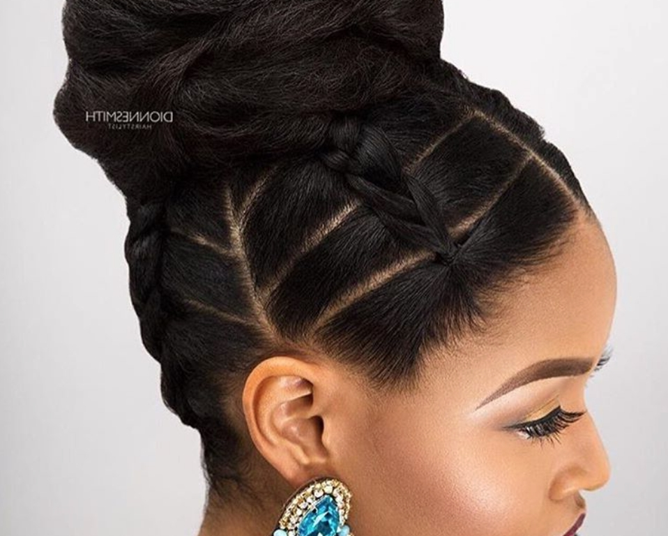 Unbelievable Bun Hairstyles For Black Hair Best Women Double Medium Pertaining To Most Recent Updo Hairstyles For African American Long Hair (View 11 of 15)