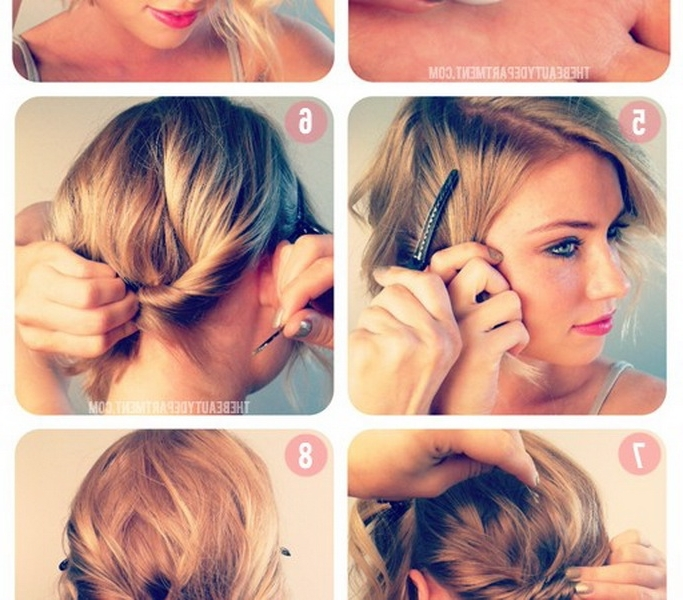 Up Hairdos For Short Hair – Hairstyle For Women & Man In Best And Newest Everyday Updos For Short Hair (View 15 of 15)