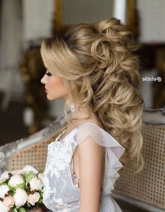 Up Hairstyles For Curly Long Hair Best 25 Curly Updo Hairstyles For 2018 Curly Long Updos For Wedding (View 10 of 15)