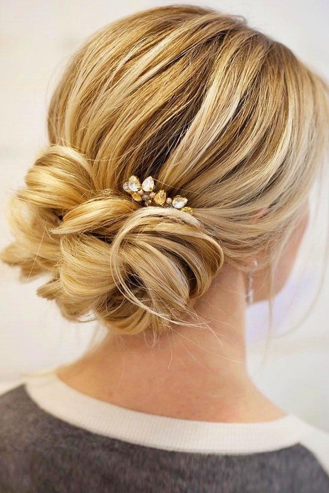 Updo Bun Hairstyles For Weddings Elegant Best 25 Low Bun Wedding Inside Best And Newest Updo Low Bun Hairstyles (View 15 of 15)
