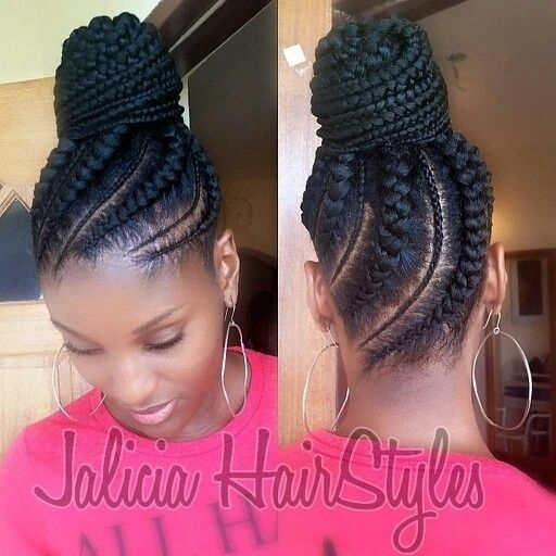 Updo Cornrow Hairstyles For Black Women Mode Regarding Most Up To Date Updo Cornrow Hairstyles (View 5 of 15)