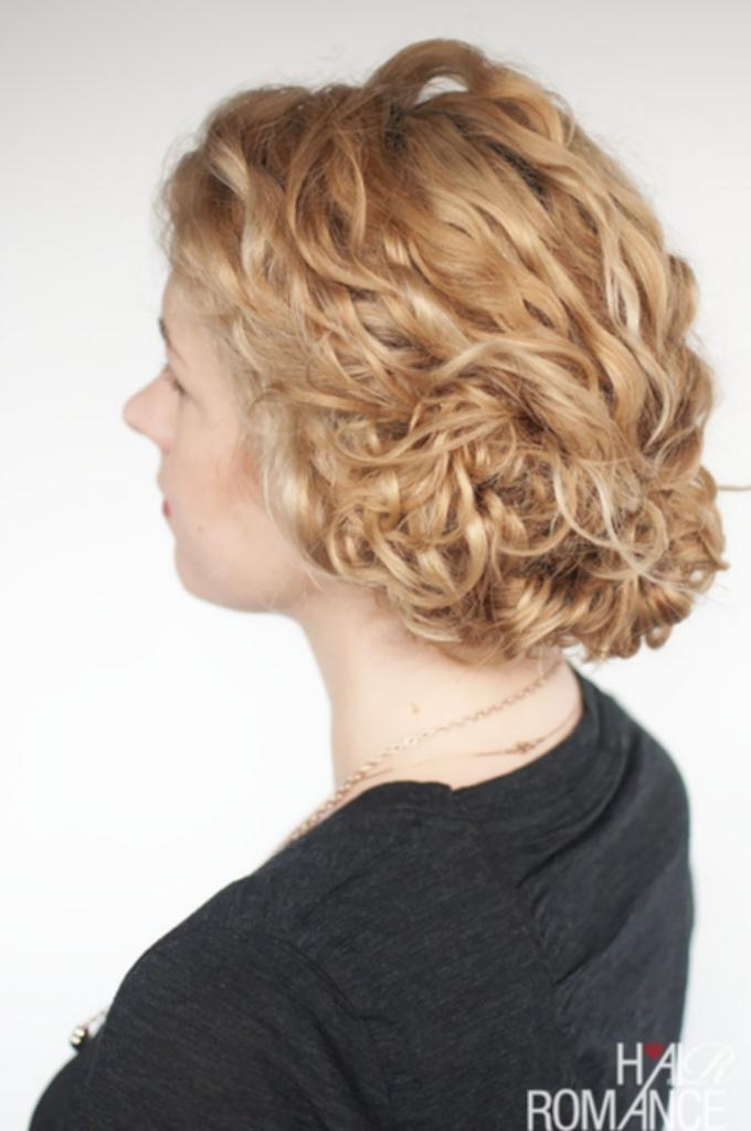 Updo Hairstyles Curly Hair – Cute Hairstyles Diy For Current Quick Updo Hairstyles For Curly Hair (View 13 of 15)
