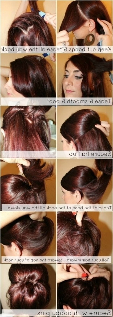 Updo Hairstyles Fine Hair 12 Trendy Low Bun Updo Hairstyles For Current Updo Hairstyles For Long Fine Straight Hair (View 14 of 15)