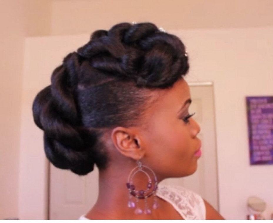 Updo Hairstyles For African American Hair Bridal Updo On Ethnic Pertaining To Most Recently Ethnic Updo Hairstyles (View 14 of 15)