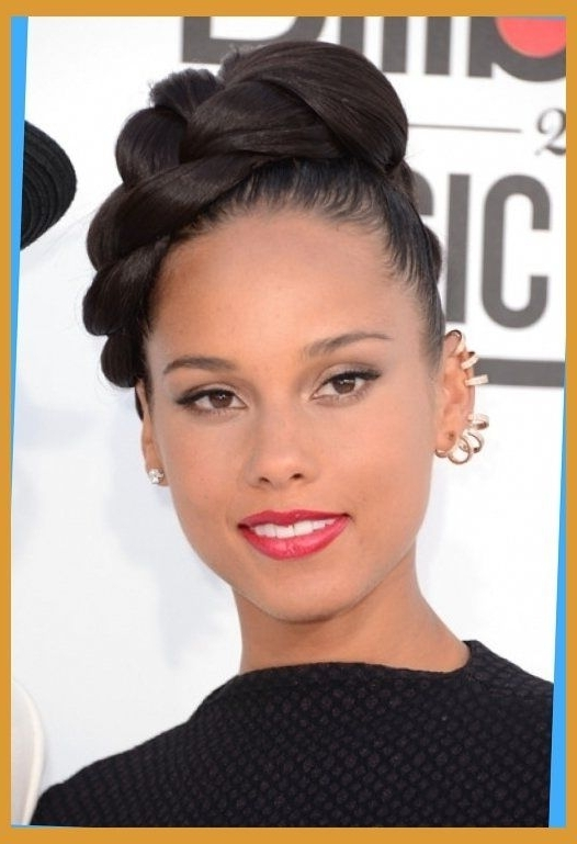 Updo Hairstyles For African American Women Braided Bun Hairstyles Inside 2018 Updo Buns Hairstyles (View 12 of 15)