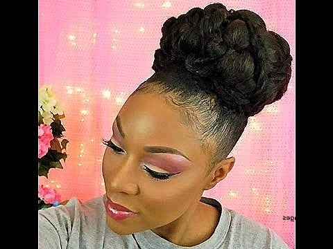 Updo Hairstyles For Black Natural Hair Luxury Bridal Wedding Goddess For Most Recent Black Natural Updo Hairstyles (View 15 of 15)