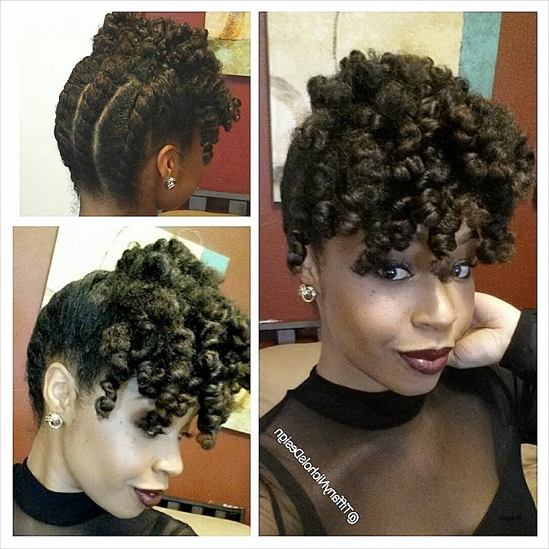Updo Hairstyles For Black Natural Hair Unique A Holiday Updo For Inside Most Up To Date Black Natural Updo Hairstyles (View 4 of 15)